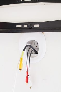 Using this under $20 tool will let you easily hide cords and exposed wires coming from a wall mounted TV and electronics. | In My Own Style