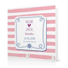 Hochzeitseinladung Maritim in Sorbet - Klappkarte quadratisch #Hochzeit #Hochzeitskarten #Einladung #Foto #modern https://www.goldbek.de/hochzeit/hochzeitskarten/einladung/hochzeitseinladung-maritim?color=sorbet&design=fc9cb&utm_campaign=autoproducts