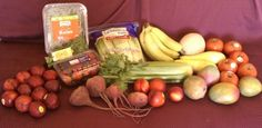 Our Organic Produce Basket with Plums From Our Produce Co-op