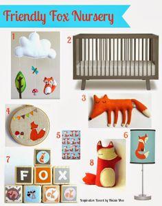 Friendly Fox Nursery - Inspiration Board - Maisie-Moo Handmade Felt Creations