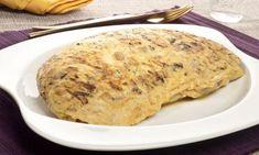 Receta de Tortilla de champiñones y bacalao