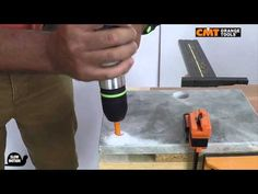 CMT hole saw 552 on marble