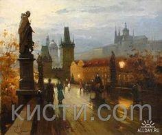 Картина раскраска по номерам Карлов мост. Прага., фото 1