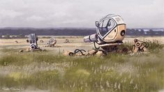 This is the world that exists in artist Simon Stålenhag's mind, and it's only accessible through his paintings. The alternate universe he's created is inspired by the sci-fi movies he watched as a kid growing up in the rural areas around Stockholm.
