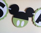 Mickey Mouse Baby shower banner - It's A Mickey banner, Mickey garland, Mickey baby shower theme