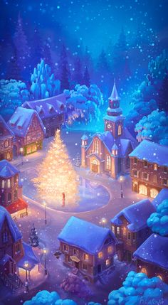 Image uploaded by Cristy Granger. Find images and videos about winter, christmas and snow on We Heart It - the app to get lost in what you love. Christmas Scenes, Christmas Images, Christmas Art, Winter Christmas, Merry Christmas Gif, Christmas Decoupage, Christmas Design, Christmas Cookies, Christmas Ideas