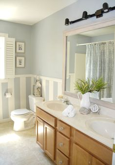 Hometalk :: DIY Driftwood Mirror Frame Without Nails or Screws Small Bathroom Furniture, Small Bathroom Tiles, Shiplap Bathroom, Bathroom Images, Bathroom Ideas, Master Bathroom, Bathroom Designs, Bathroom Interior, Pink Bathrooms