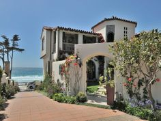 This Mediterranean Home Is What California Dreams Are Made Of Directly Across From Carmel Beach The Property Features Ustructed Views All Three