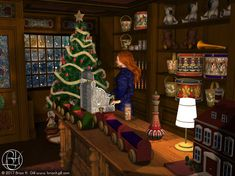 """Christmas Toy Store - """"'Twas the night before Christmas, and all through the store...."""""""