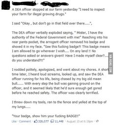 Show him your BADGE!! - 9GAG