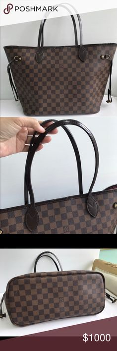 💯AUTHENTIC Louis Vuitton Neverfull Damier MM 💯AUTHENTIC Louis Vuitton Neverfull Damier MM. Excellent condition, like new with authenticity card, dust bag, original receipt from LV store in Paris👜 9️⃣0️⃣0️⃣➖🅿️🅿️ Louis Vuitton Bags Totes