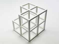 Sol LeWitt / Cube Without a Cube