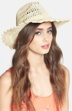 Lavender eyes & coral lips, LOVE! Tarnish Scalloped Brim Cowboy Hat | Nordstrom