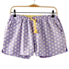 New Small Fresh-tie Waist Stretch Cotton And Linen Shorts [#1301]