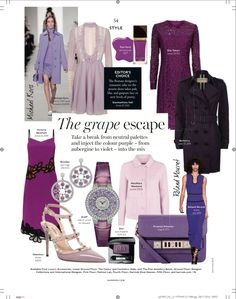 Harrods Magazine October Womenswear Style Page {Colour: Purple}