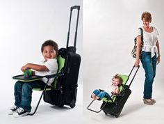 Absolutely brilliant! >> Pack and Ride: Ride-On Carry-On www.rideoncarryon.com  | Traveling with small children can be stressful, especially as you make your way through crowded airports. instantly converting your rolling carry-on luggage into a travel stroller.