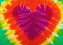 Tie dye heart Royalty Free Stock Photos