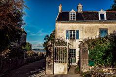 Le bourg de l'île d'Arz. Morbihan, Bretagne.