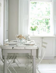 want a white dining table...