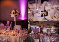 Real Wedding at Embassy Suites Chicago Downtown |  Images by Studio Finch    #purple