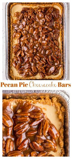 Easy Pecan Pie Cheesecake Bars – Baker by NatureYou can find Dessert recipes easy and more on our website.Easy Pecan Pie Cheesecake Bars – Baker by Nature Pecan Pie Cheesecake, Easy Cheesecake Recipes, Easy Cookie Recipes, Homemade Cheesecake, Classic Cheesecake, Cheesecake Cookies, Easy Recipes, Turtle Cheesecake, Pie Recipes