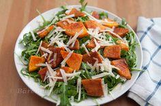 Rucola Salat mit Kürbis