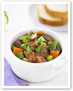 Country beef and vegetable casserole