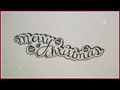 cursive fancy letters - how to write Merry Christmas I wish you a ...