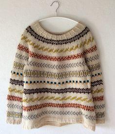 Størrelse: S & M & L Overvidde: 93 cm & 98 cm & 103 cm. Fair Isle Knitting, Hand Knitting, Motif Fair Isle, Hippie Man, Hand Knitted Sweaters, How To Purl Knit, Knit Fashion, Knitting Designs, Pulls