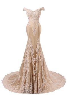 Bess Bridal Women's Mermaid Beaded Lace Formal Prom Evening Dress US6 Black