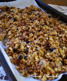 Chunky granola cluster recipe! YUM!:)
