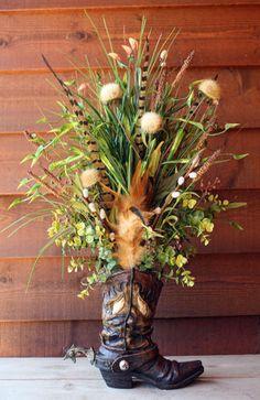 Cowboy Boot Floral Arrangement