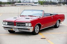 Pontiac: GTO 1964 pontiac gto convertible 389 tri power phs docs 4 speed red very nice
