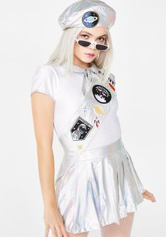 5368f2b58ec Cosmic Space Cadet Costume Set Hologram Silver