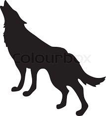 Bildergebnis für wolf tattoo sitzend Silhouetten