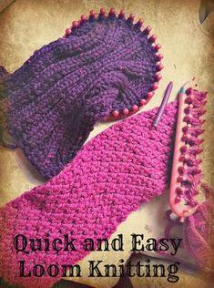 Knitting looms make knitting simple and fast! Even kids can do it! - Loom - Knitting looms make knitting simple and fast! Even kids can do it! Knitting looms make knitting simple and fast! Even kids can do it! Loom Knitting Stitches, Knifty Knitter, Loom Knitting Projects, Yarn Projects, Free Knitting, Simple Knitting, Kids Knitting, Knitting Tutorials, Knitting Needles