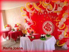 Decoração de salão - Tema Sport Clube Internacional.