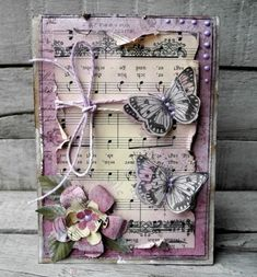 New Shabby Chic Cards Handmade Happy Birthday Ideas Butterfly Cards, Flower Cards, Diy Butterfly, Paper Cards, Diy Cards, Mixed Media Cards, Shabby Chic Cards, Beautiful Handmade Cards, Artist Trading Cards