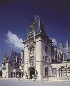 Biltmore estate in Asheville, NC. My sister and I came here on a high school trip years ago. I hope to go back, one day. It is a magnificent piece of architecture and design! There is a massive library inside and one of the books on display had letters Queen Elizabeth the 1st had written. I wanted to read it, but this classmate of mine was using all the time we had in the library looking at it...  : (