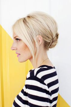 A simple chignon updo  ~ we ❤ this! moncheriprom.com