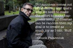 Inspiration: Happiness, Chuck Palahniuk