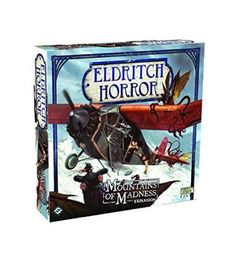 Explore the haunted vastness of Antarctica in Mountains of Madness, the first side board expansion for Eldritch Horror! Inspired by H.P. Lovecrafts tale of a Miskatonic University expedition ravaged by sinister and inhuman creatures, mountains of Madness challenges players to confront the terrors that Miskatonics doomed expedition unearthed.