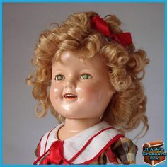 Beautiful Vintage Shirley Temple Jointed Composition Doll By Ideal Toy Co.