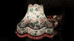 Vintage Standard Lamp Shade. Pink / Green Floral Roses - Country Cottage Style in Home, Furniture & DIY, Lighting, Lampshades & Lightshades | eBay