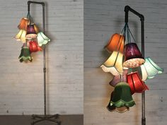 This week we mixed industrial conduit with chic fabric shades and this floor lamp was the outcome!