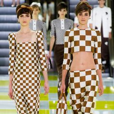 As seen at Louis Vuitton. #gingham #trends #style