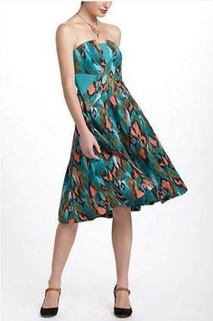 Painted Ikat Dress  Anthropologie