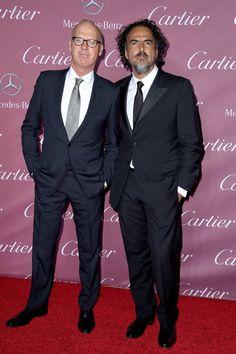 Pin for Later: Toutes les Stars du Moment Étaient Présentes Lors du Festival du Film de Palm Springs Michael Keaton et Alejandro González Iñárritu