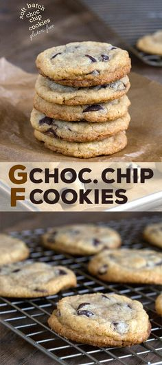 Easy chewy soft gluten free chocolate chip cookies that taste like they just came out of the oven. The absolute BEST!