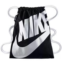 Nike Heritage Gym Sack Pack, Sports Drawstring Bag Backpack Cinch Bag (Black)